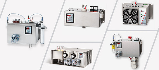 Electric gas coolers for gas analysis as peltier- or compressor-coolers