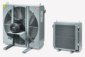 Oil-air cooler to stabilize the oil temperature in hydraulic systems