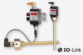 Electronic temperature switch and sensor for hydraulic systems.